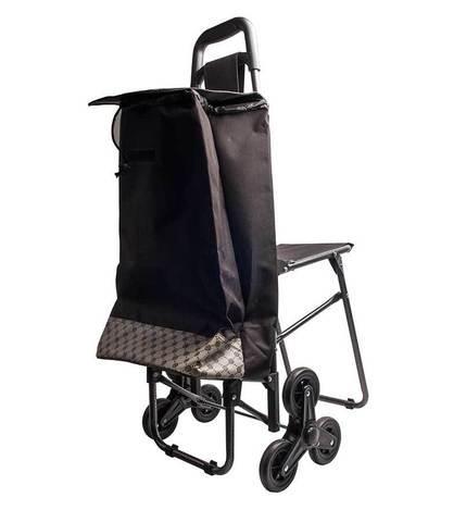 Сумка-тележка для подъёма по ступенькам со стульчиком