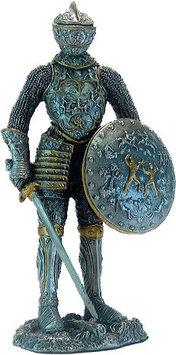 Статуэтка оловянный солдатик Wise Unicorn Рыцарь с мечом и щитом, Высота: 105 мм, Материал: Оловянный сплав, (
