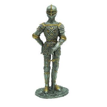 Статуэтка оловянный солдатик Wise Unicorn Рыцарь в латах, Высота: 105 мм, Материал: Оловянный сплав, (AT08077A