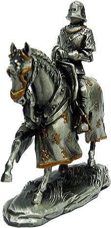 Статуэтка оловянный солдатик Wise Unicorn Конный рыцарь, Высота: 105 мм, Материал: Оловянный сплав, (AT08728A2