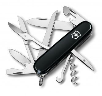 Нож складной армейский Victorinox Huntsman, Кол-во функций: 18 в 1, Цвет: Чёрный, (1.3713.3)