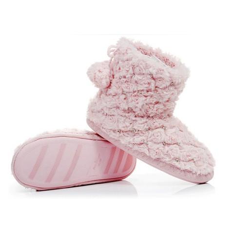 Тапочки-угги домашние со стразами Pettimelo L-315 (36/37 / Розовый)