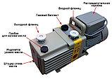 Насос вакуумный пластинчато-роторный двухступенчатый ADVAVAC-10, однофазный, 220В, фото 2