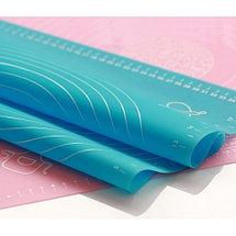 Коврик силиконовый с разметкой для раскатывания теста и выпекания (65 х 45 см), фото 3