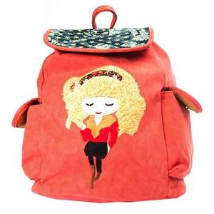 Рюкзак-сумка с аппликацией DANDANTEBU (Оранжевый)