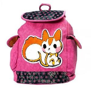 Рюкзак-сумка с аппликацией DANDANTEBU (Розовый)