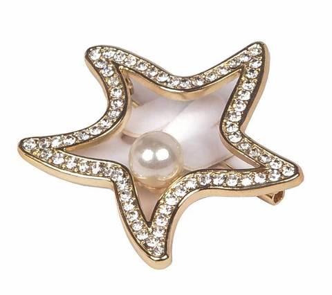 Брошь RedCoral «Морская звезда» (Золотой)