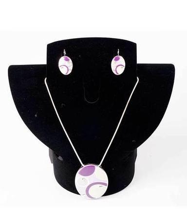 Комплект кулон и серьги Kuku Fashion Circles (Фиолетовый), фото 2