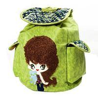 Рюкзак-сумка с аппликацией DANDANTEBU (Зеленый)