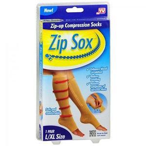 Лечебные компрессионные гольфы на молнии от варикоза Zip Sox (L-XL)