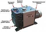 Насос вакуумный пластинчато-роторный двухступенчатый ADVAVAC-50, однофазный, 220В, фото 2