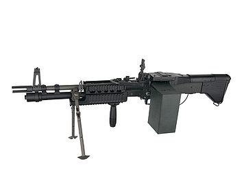 Пулемет для страйкбола ASG M60E4/Mk43, Калибр: 6,0 мм, Дульная энергия: 1,3 Дж, Ёмкость магазина (барабана): 4
