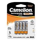 Аккумуляторная батарейка Camelion ААА NH-AAA1100BP4, Lockbox Rechargeable, 1.2V, 1100 mAh (4 шт.)
