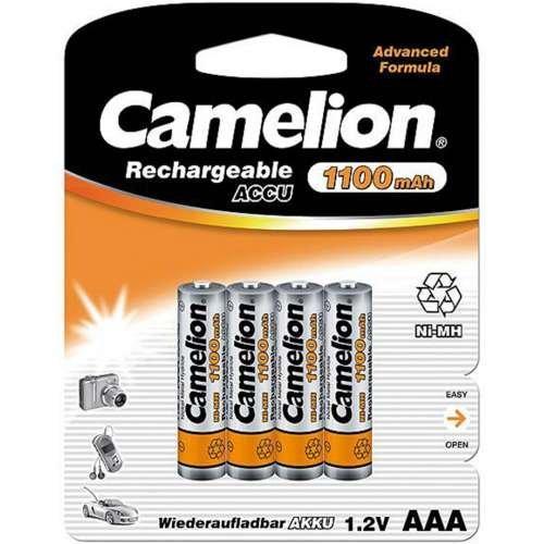 Аккумуляторная батарейка Camelion ААА NH-AAA1100LBP4 Lockbox Rechargeable 1.2V, 1100 mAh (4 шт.)