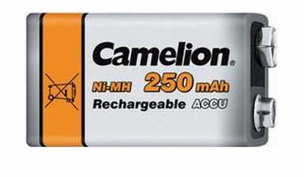 Аккумуляторная батарейка Camelion крона NH-9V250BP1, Lockbox Rechargeable, 6F22, 9V, 250 mAh (1 шт.)