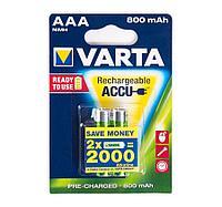 Аккумуляторная батарейка VARTA ААА R2U (HR03) 1.2 V (2 шт.)