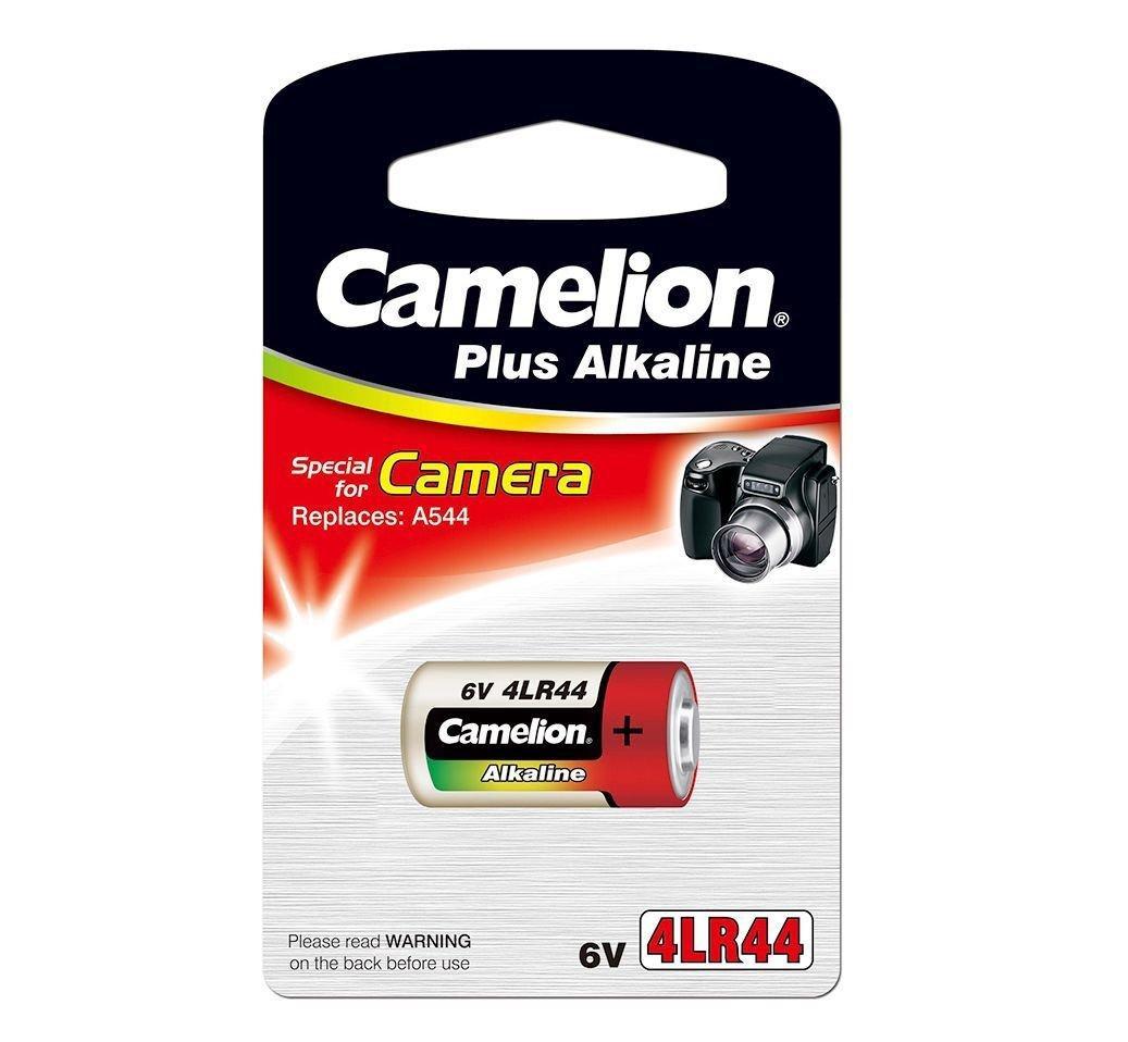 Батарейка Camelion 4LR44-BP1C, Photo Plus Alkaline, 6V, 150 mAh (1 шт.)