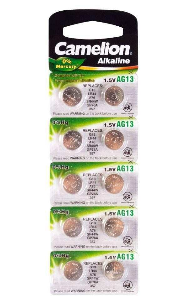 Батарейка Camelion AG13-BP10,  Alkaline, 1.5V (10 шт.)