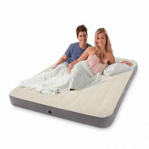 Матрас надувной Intex DELUX SINGLE-HIGH 64708/64709 [полуторный | двухспальный] (Полуторка)