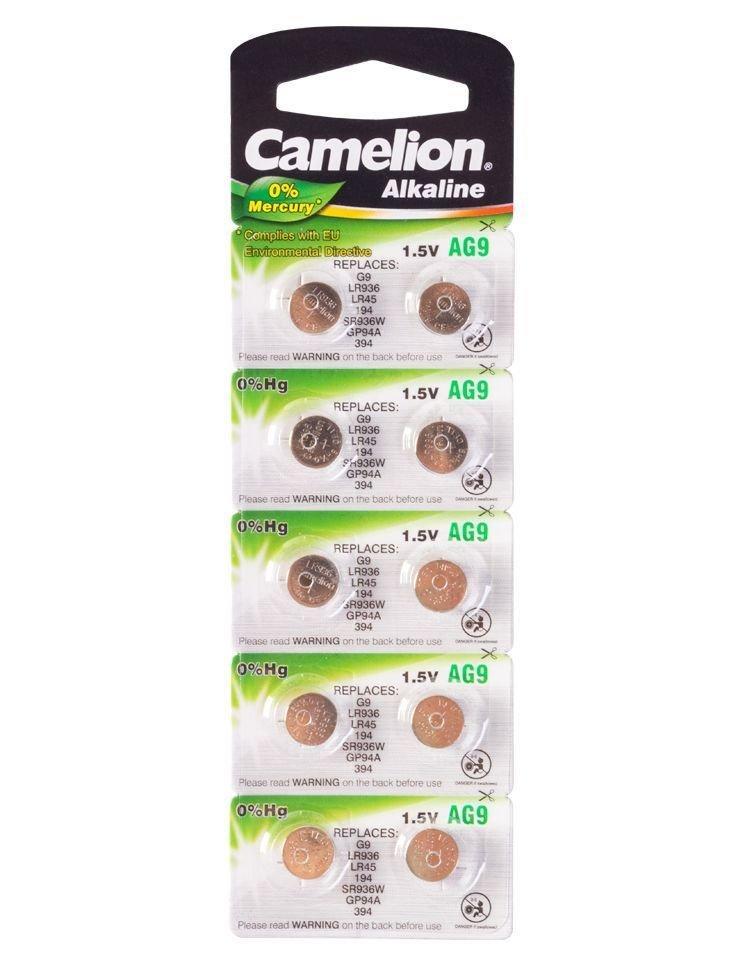 Батарейка Camelion AG9, Alkaline, 1.5V (10 шт.)