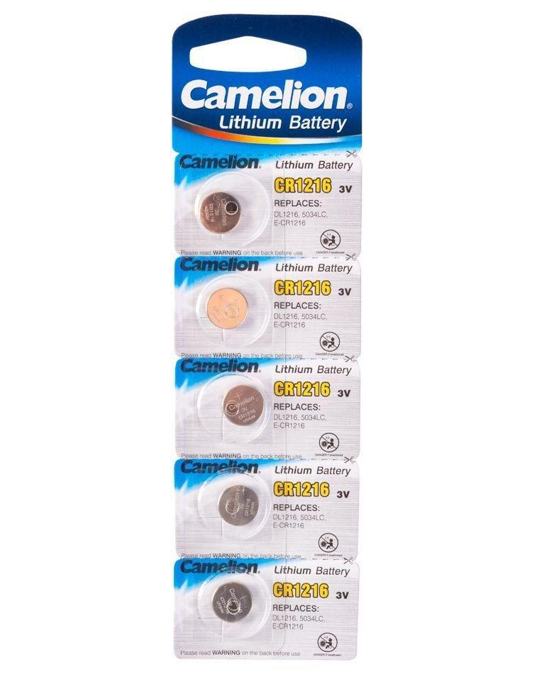 Батарейка Camelion CR1216-BP5 Lithium Battery 3V, 220 mAh (5 шт.)
