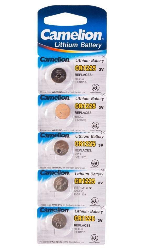 Батарейка Camelion CR1225-BP5 Lithium Battery 3V, 220 mAh (5 шт.)