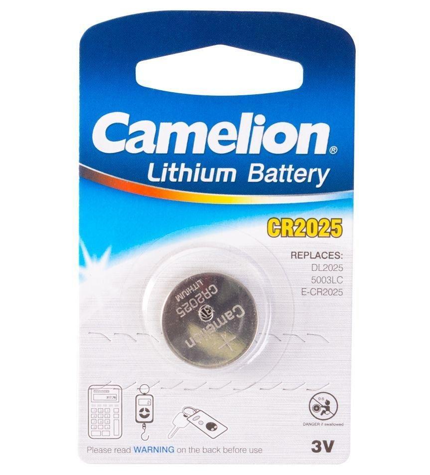 Батарейка Camelion CR2025-BP1 Lithium Battery 3V, 220 mAh (1 шт.)