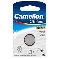 Батарейка Camelion CR2032-BP1 Lithium Battery 3V, 220 mAh (1 шт.)