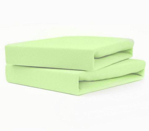 Простынь на резинке из поплина от Текс-Дизайн (160х200 см / Зеленый)