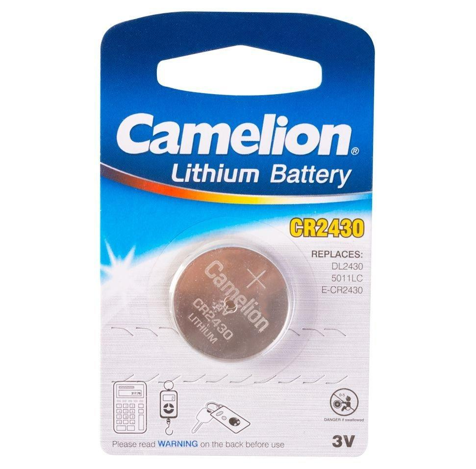 Батарейка Camelion CR2430-BP1 Lithium Battery 3V, 220 mAh (1 шт.)
