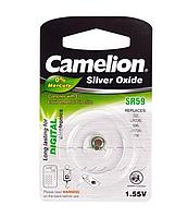 Батарейка Camelion SR59-BP1, Silver Oxide, 1.55V (1 шт.)