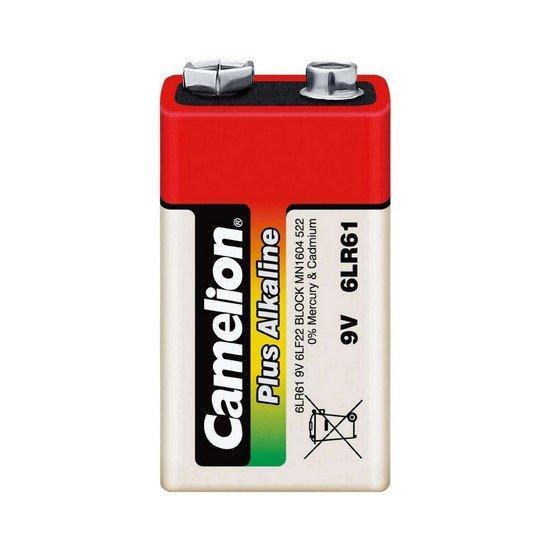 Батарейка Camelion крона 6LR61-BP1, Plus Alkaline, 6F22, 9V, 680 mAh (1 шт.)
