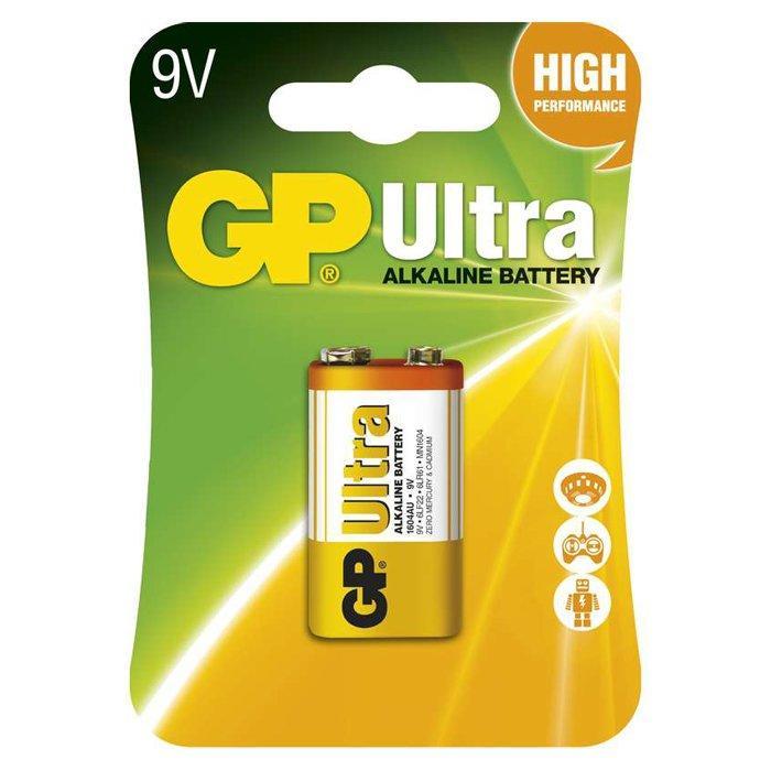Батарейка GP Ultra крона Alkaline 1604AU 6LR61 (1 шт.)