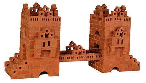 Конструктор керамический из настоящих кирпичей Brickmaster (Домик / 99), фото 2