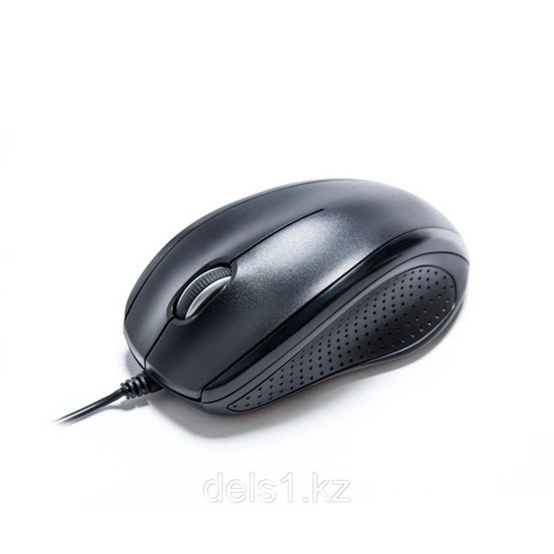 Мышь, Delux, DLM-396OUB, 3D, Оптическая, 1000dpi, USB, Длина кабеля 1,6 метра, Размер: 113,6*79,4*39,5 мм.,