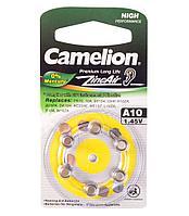 Батарейка для слуховых аппаратов Camelion A10-BP6, Zinc Air, 1.45V (6 шт.)
