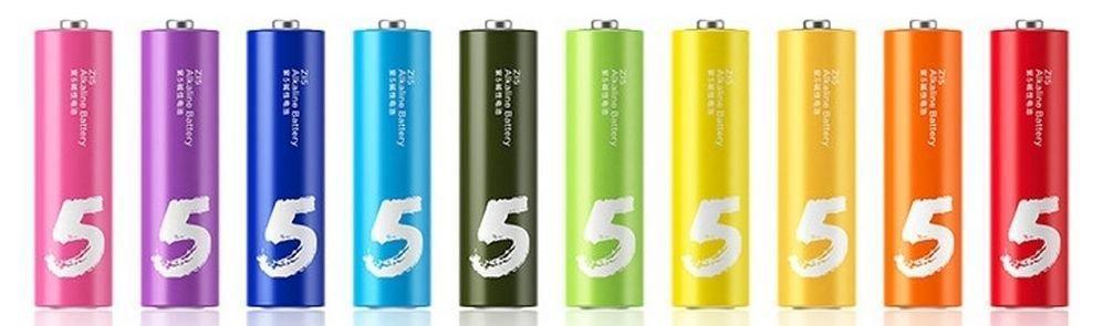 Батарейки Xiaomi АА ZMI Rainbow 5 AA NQD4000RT (AA501), 1.5V (10 шт.)