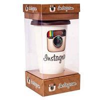 Кружка-латте керамическая с силиконовой крышкой (Instagram)