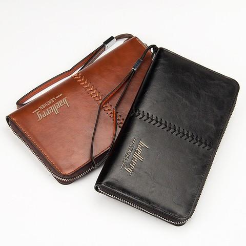 Портмоне-барсетка мужское реплика Baellerry Leather (Коричневый)