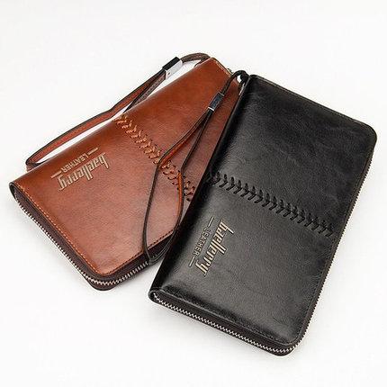 Портмоне-барсетка мужское реплика Baellerry Leather (Коричневый), фото 2