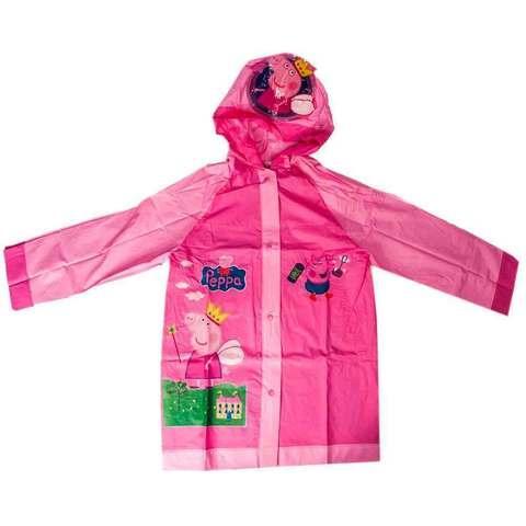 """Дождевик детский из непромокаемой ткани с капюшоном (S / """"Свинка Пеппа"""")"""