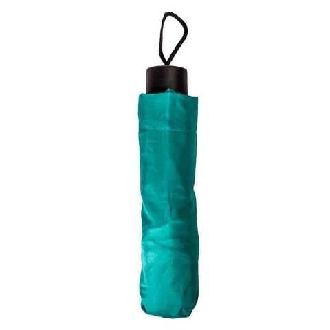 Зонт складной механический с чехлом (Бирюзовый)