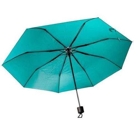 Зонт складной механический с чехлом (Бирюзовый), фото 2