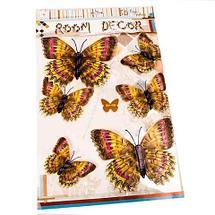 Наклейки 3D для украшения интерьера «Бабочки» (GW-005), фото 3