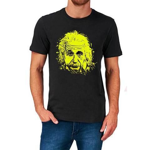 Футболка с изображением Альберта Эйнштейна (S / Черный)