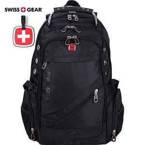 """Рюкзак Swissgear 8810 с отделением для ноутбука до 17"""" и чехлом от дождя (Черный)"""
