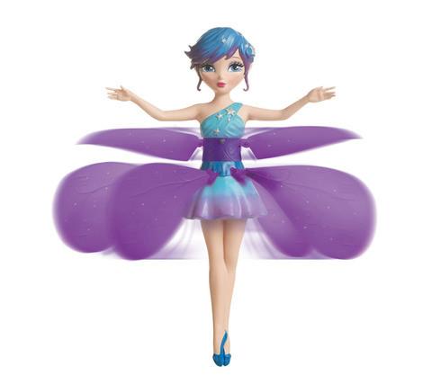 Игрушка с подсветкой и музыкой «Летающая фея» (Голубой)