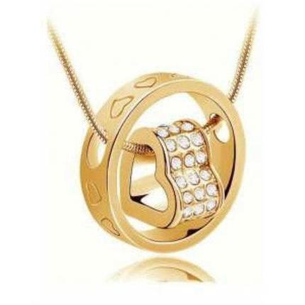 Кулон Сердце в кольце в романтическом стиле, фото 2