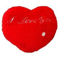 Подушка-игрушка сердце с подсветкой «I Love You»