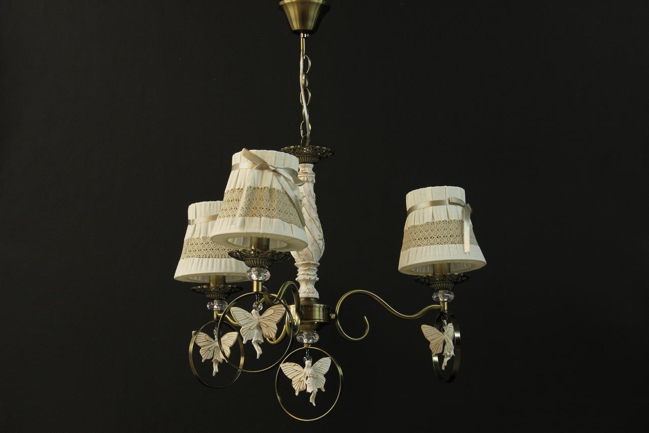 """Люстра подвесная на 3 лампочек """"Ангелочки"""""""